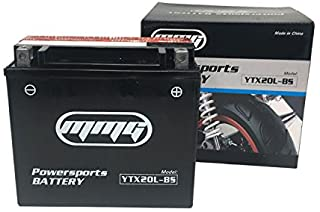 MMG YTX20L-BS ATV Battery 12V 20 Amp for ATVs Bombardier (Can-Am), Honda, Kymco, Yamaha