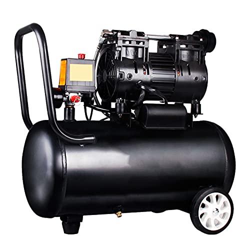 Pompa d'aria portatile senza olio 30L Compressore d'aria silenzioso 550/750 / 800W (65 dB) per la ristrutturazione domestica Gonfiaggio di pneumatici Vernice spray Utensili pneumatici Pompa dentale