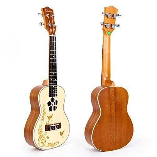 Ukulele Konzert-Ukulele aus massiver Fichte, 58,4 cm, 18 Bünde, 4 Saiten, Hawai-Gitarre