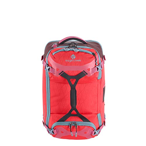 Eagle Creek Gear Warrior 45L, Bagpack and Duffle Bag 2 in 1, Outdoor Rucksack, Hand Luggage, PET ripstop abrasion & water resistant material, extendable Handle, Coral Sunset, 32 x 55 x 27 cm