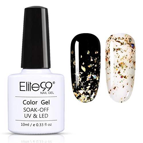 Elite99 Baby's Breath UV Nagellack 10ML, Glitzer Gel Nail Art für Nail Design, UV LED Soak Off Lack Gelnägel 7402