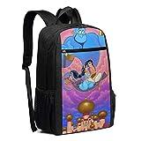 DJNGN Mochila de Viaje para computadora portátil Aladdin 's Wish College School Bookbag Bolsa de computadora Mochila Informal para Mujeres Hombres