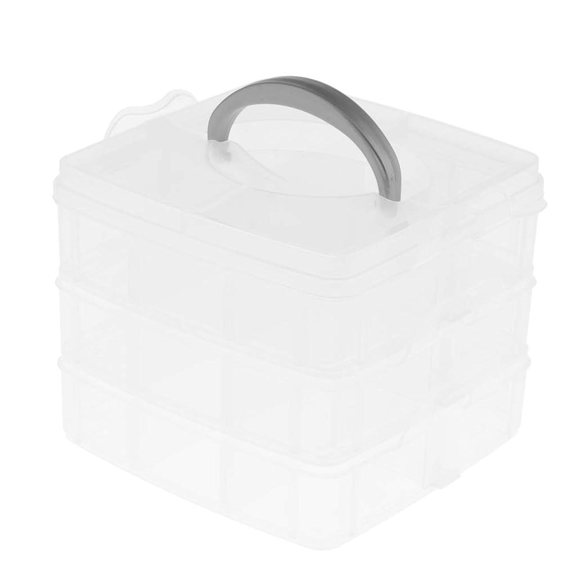 肺炎茎刃P Prettyia 透明 収納箱 ビルディング ブロック 収納ボックス おもちゃ収納ボックス プラスチックボックス 3層