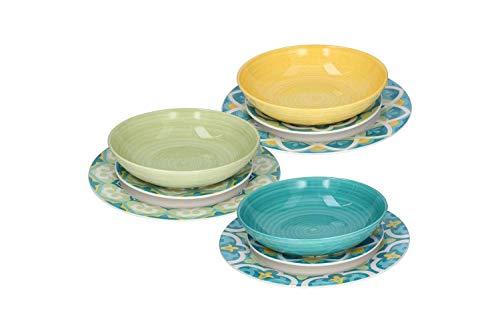 Tognana Porcellane OM07018M042 juego de vajilla Porcelana Multicolor 18 pieza(s) - Juegos de vajillas (6 personas(s), Porcelana, Multicolor, Alrededor, 20,5 cm, 8,14 kg)