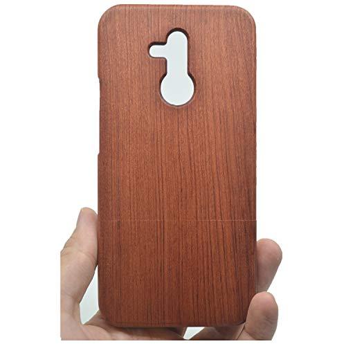 Phantom Sky Stylisch Holzschatulle Kompatibel für Huawei Mate 20 Lite, Premium Qualität Natürliche Handgemachte Stoßfestes Handyhülle Holzabdeckung Holz Schutzhülle Cover - Rosenholz