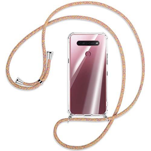 mtb more energy® Handykette kompatibel mit LG K51S (LM-K510, 6.55'') - Rainbow - Smartphone Hülle zum Umhängen - Anti Shock Full TPU Hülle