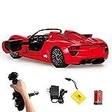 Modelo de coche Negro Y Dos colores rojo control remoto de coches deportivos, de Chico Alto grado de coches de juguete de alta velocidad que compite con el modelo, sistema antibloqueo de frenos, siste