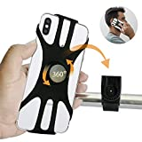 MIZONVY Bike Phone Mount, Detachable 360° Rotation Motorcycle Phone Mount, Adjustable Universal Silicone Handlebar Cradle Fits for iPhone 11 ProMax/X/XS MAX/XR/8/8Plus, Samsung S, LG, 4.0'-6.5' Phone
