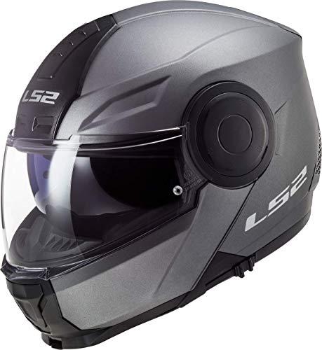 Casco de motocicleta LS2 FF902 SCOPE Solid MATT TITANIO Modular ECE 22.05 aprobado para hombre y mujer, extra-small