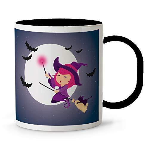LolaPix Taza plástico Halloween Personalizada con Nombre. Varios diseños. Bruja