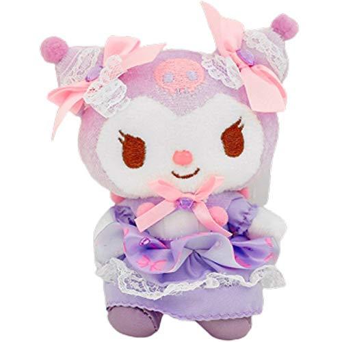 10Cm Japan Cartoon Kawali Lolita Kuromi Cute Keychain Soft Stuffed Plush Pendant Dolls Adult Kids Toys Girls Gifts