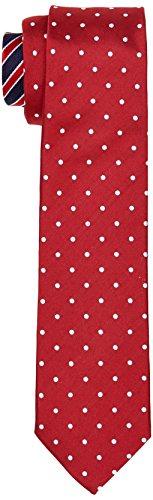 Tommy Hilfiger Herren TIE 7CM TTSDSN18101 Krawatte, Rot (615), One Size