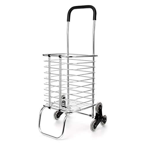 ExcLent 65Kg Treppensteigen Klappen Einkaufen Einkaufskorb Einkaufswagen Gepäckwagen 6 Rad Anhänger