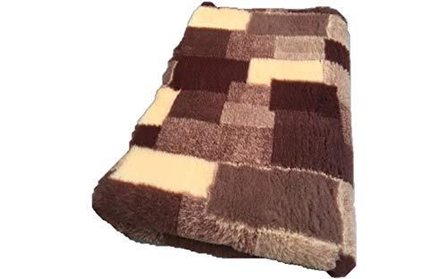 Vetbed -/ Drybed I Patchwork marron/beige I 75 x 100 cm