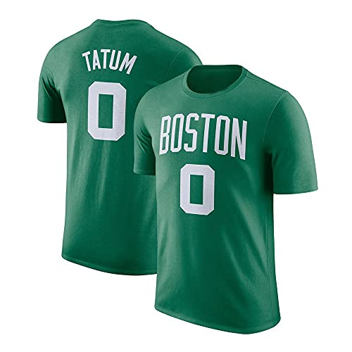 Wo nice Camisetas para Hombre, Boston Celtics # 0 Jayson Tatum NBA Basketball Camisetas Casual Deportes Jerseys Sueltos Chalecos Tops,Verde,XXXL(190~195)