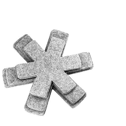 Wopohy Topfuntersetzer 12PCS Stapelschutz Pfannenschutz aus Filz für Töpfe, Pfannen, Teller