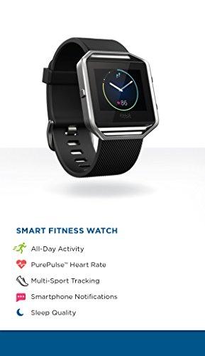 Fitbit Blaze Smart Fitness Watch, Black, Silver, Small (US Version)
