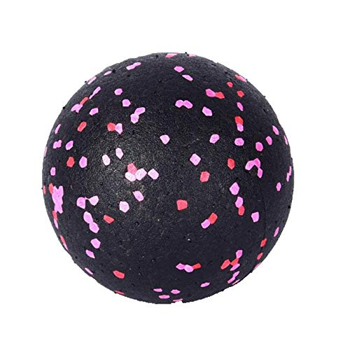 Bangle009 Workouts zu Hause, EVA-Ball, Yoga, Fitness, Rolle, Muskeln, Faszien, Entspannung, Körper, Fuß, Beine, Nacken, Massagegerät Einheitsgröße schwarz/pink