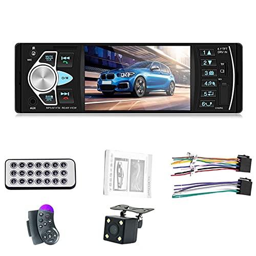 Bluetooth Multimedia de Radio de 4.1 Pulgadas MP3 MP5 Jugador con Bluetooth, FM Audio Car Estéreo Receptor 1 DIN, USB TF Soporte de la cámara de Vista Trasera Multimedia (Color : 4022D-SW-4LED)