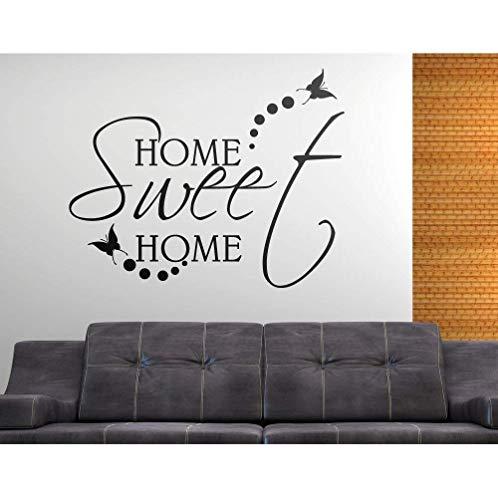 ADESIVI MURALI FRASI WALL STICKERS CITAZIONE HOME SWEET HOME ADESIVO MURALE DECORATIVO StickerDesign