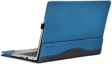 ppker Case for Inspiron 13 7000 Sleeve Detachable PU Leather Protective Cover for DELL Inspiron 13 7370 7373 7380 Case (Inspiron 13 7370/7373 / 7380, Cobalt Blue)