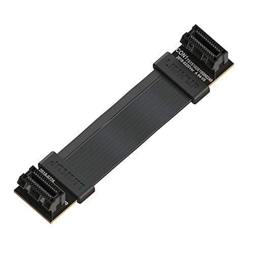 LINKUP - Flexible SLI Bridge GPU Cable Extreme High-Speed Twin-axial Technology Premium Shielding 100ohm Design for nVidia GPUs Graphic Cards - [6 cm]