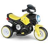 Laytte Bicicletas para niños Trikes Montar Juguetes, Bicicletas de Equilibrio, Paseo en Motocicleta 6V Motocicleta de batería Dibujo con Faros Música para jóvenes de 2 a 3 años