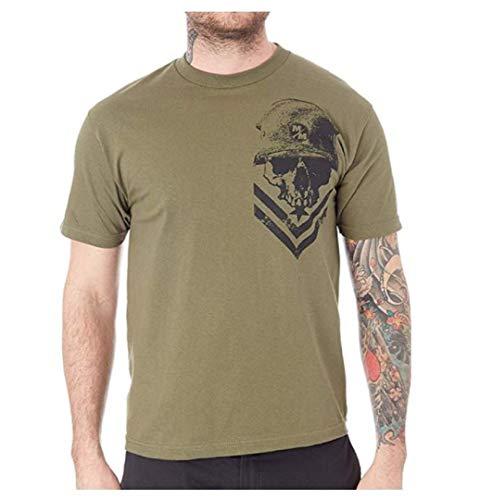 Metal Mulisha Herren Graphic Militant Logo Tee T-Shirt, Militärgrün, Klein