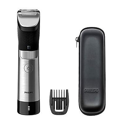 Philips Beard & Stubble Trimmer for Men, 9000 Prestige, 30 Length Settings, 120mins Run Time, SteelPrecision Blades, UK 3-Pin Plug - BT9810/13