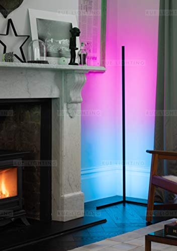 THE RUE – Colour Changing (RGB) - Minimalist LED Corner Floor Light - Mobile App Controlled - BLACK - Don't Settle for an Imitation