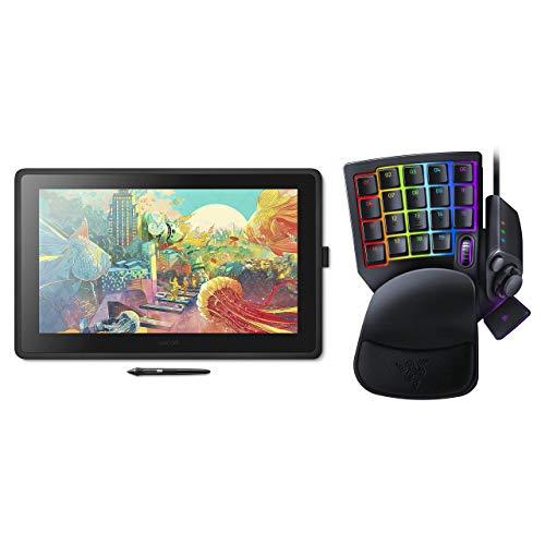 【Amazon.co.jp限定】 ワコム 液タブ Wacom Cintiq 22 FHD ブラック アマゾンオリジナルデータ DTK2260K1D + Razer Tartarus Pro 左手キーパッド
