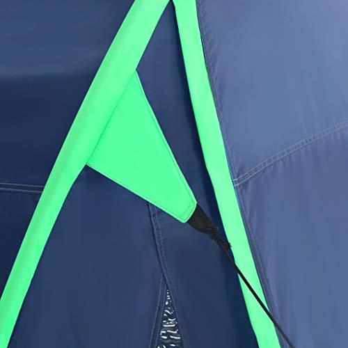vidaXL Kampeertent Blauw Campingtent Tent Tenten Kampeertenten Campingtenten