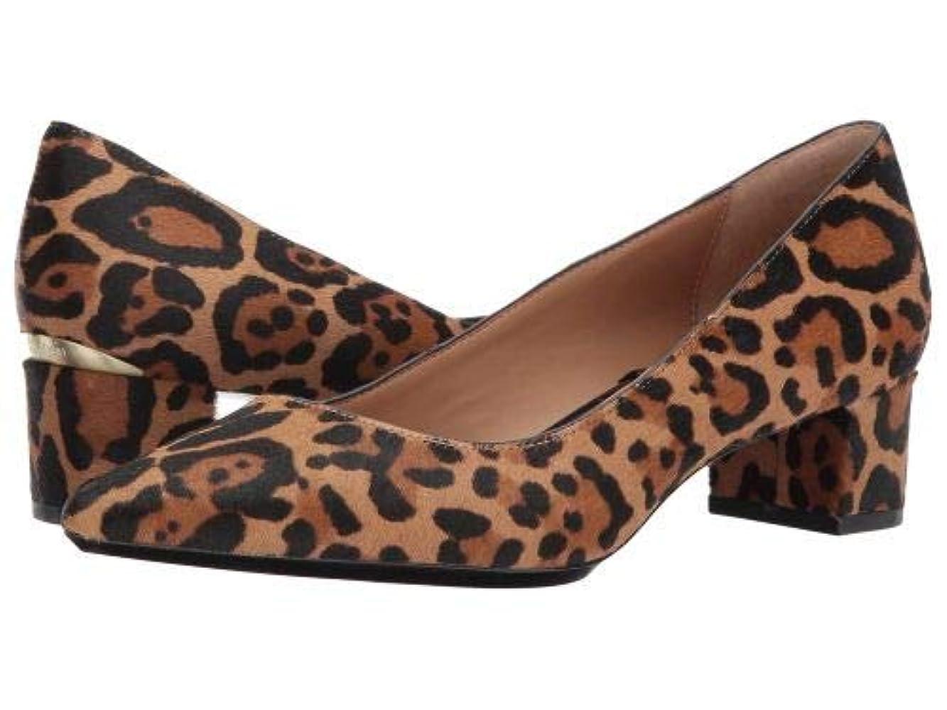 チューブ情緒的援助Calvin Klein(カルバンクライン) レディース 女性用 シューズ 靴 ヒール Genoveva Pump - Natural Winter Leopard Haircalf [並行輸入品]