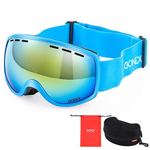 Gonex Kinder Skibrille, Snowboardbrille für Kinder von 3 bis 8 Jahren, Anti-Fog und 100% UV Schutz...