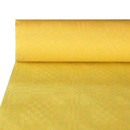 Papstar NEU Tischdecke gelb, Damastprägung, 50x1m
