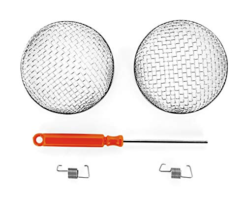Camco Flying Insect Screen -Protects RV Furnaces From Insects and Prevents RV Vent Damage - (2 Pack) (42141),2.9 Diameter X 1.3