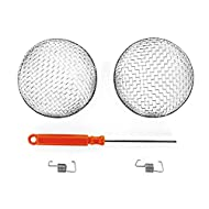 """Camco Flying Insect Screen -Protects RV Furnaces From Insects and Prevents RV Vent Damage - (2 Pack) (42141),2.9"""" Diameter X 1.3"""""""