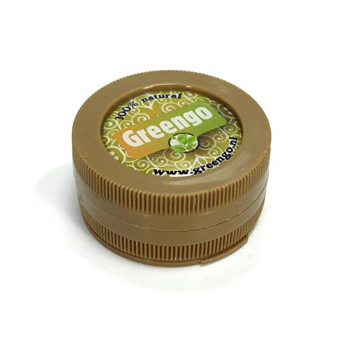 Greengo Dry Herb Grinder in 3 Parts, 50mm diameter, Brown Color