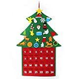 El árbol de Navidad del Fieltro de los DIY fijó + los Ornamentos Desmontables, Regalos Colgantes de Navidad de la Pared para Las Decoraciones de la Navidad