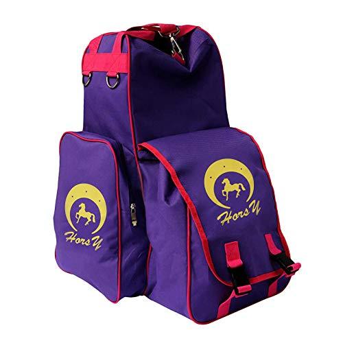 #N/A Professional Horse Reitstiefel Tasche Helm Tasche Reit Rucksack Tragen Alle Tasche für Outdoor-aktivitäten - Lila