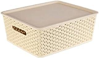 Lpiotyucwh Paniers et Boîtes De Rangement, 2 pcs paniers pour Organiser, conteneur de Stockage de boîtes d'organisateur en...