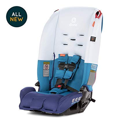 Diono Radian 3R All-in-One Convertible Car Seat - Extended Rear-Facing 5-40 Pounds, Forward-Facing to 65 Pounds, Booster to 100 Pounds - The Original 3 Across, Blue