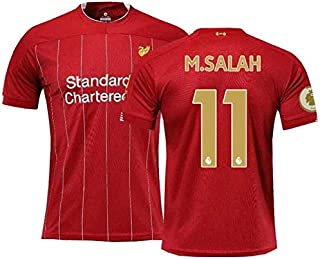 PATA Soccer Suit Premier League Champions Edition 19-20 Liverpool Home 11# Salah Fans Football Jerseys for Adult Youth Men...