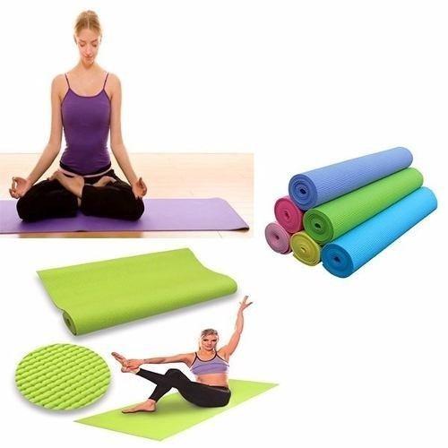 Esterilla Fitness de Ejercicio, Alfombra de Yoga, Colchoneta de Gimnasia, Fino y Suave, Plegable y Fácil de Transportar, Tamaño de 173cm x 61cm, 6 Colores (Verde)
