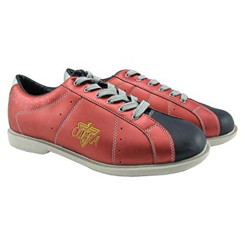 TCR 2L Sport Comfort Cobra Rental Bowling-Schuhe für Damen, Schnürsenkel, Rot/Schwarz, 47