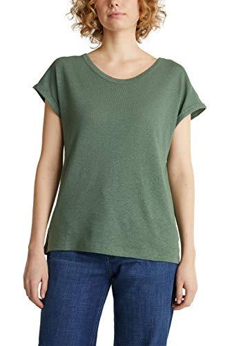 Esprit 030EE1K402 Camiseta, 350/verde Caqui, XXL para Mujer
