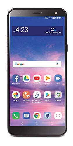 Tracfone LG Solo 4G LTE Prepaid Smartphone (Locked) - Black - 16GB - SIM Card Included - CDMA -  TFLGL423DCP)