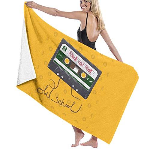 N\ Diseño del casete de la cinta, toalla de baño de la playa de la roca de la