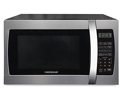 Farberware FMWO13AHTBKE Microwave, 1.3 cu. ft, Stainless Steel