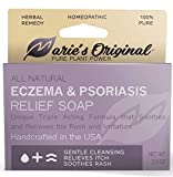 Marie's Original Eczema Face Soap Body Wash Bar – All Natural Psoriasis, Dermatitis Treatment for Dry Itchy Flaky Skin Relief – Gentle Detoxifying, Healing, Anti-Itch, Cleansing Skincare Remedy
